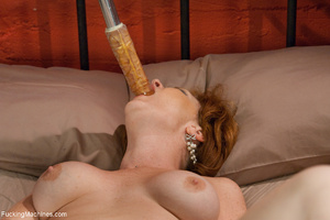 Red MILF gets all her holes plugged with - XXX Dessert - Picture 7