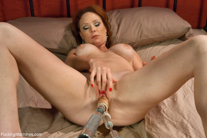 Red MILF gets all her holes plugged with - XXX Dessert - Picture 8