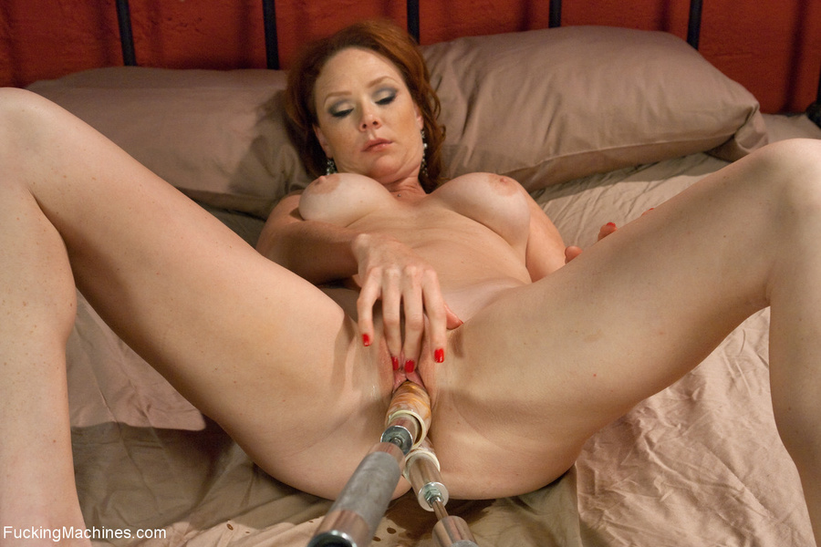 Red MILF gets all her holes plugged with fu - XXX Dessert - Picture 8