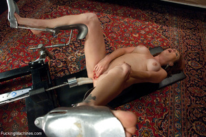 Red MILF gets all her holes plugged with - Picture 10
