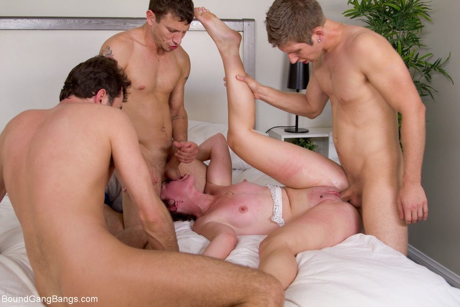 Christian girl bound gangbang