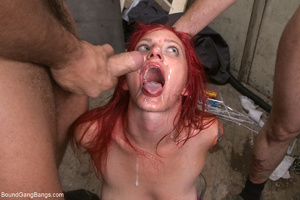 Chick with a packet on her head with rop - XXX Dessert - Picture 9