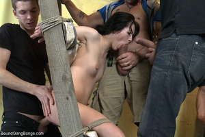 Dirty bitch in long socks spanked and po - XXX Dessert - Picture 7