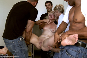 Two blonde office sluts bound and banged - XXX Dessert - Picture 5