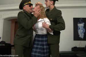 Horny military men jeering and fucking b - XXX Dessert - Picture 1