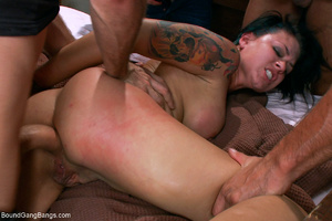 Busty tattooed bitch assdrilled with two - XXX Dessert - Picture 5