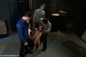 Three kinky guys seized latina chick for - XXX Dessert - Picture 7