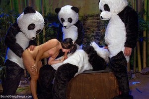 Dudes in panda fancy dresses fucked eage - XXX Dessert - Picture 7