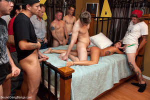 Small-titted brunette enchained with cuf - XXX Dessert - Picture 8
