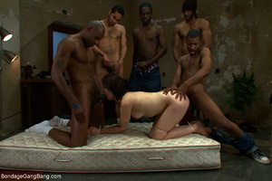 Five black guys jeering and fucking badl - XXX Dessert - Picture 5