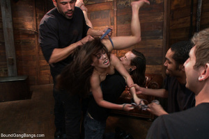 Horny dude torturing long-haired brunett - XXX Dessert - Picture 3