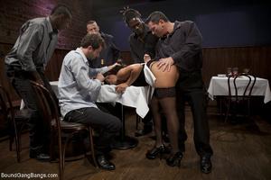 Swarthy MILF in stockings gangbanged bad - XXX Dessert - Picture 2