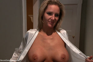 Busty blonde mom mouthful of sperm after - XXX Dessert - Picture 1