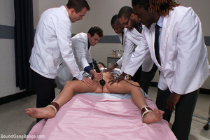 Pervert doctors fucking badly busty brun - XXX Dessert - Picture 4