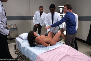 Pervert doctors fucking badly busty brun - XXX Dessert - Picture 5