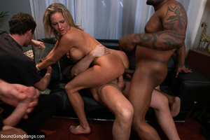 Busty blonde mom mouthful of sperm after - XXX Dessert - Picture 7