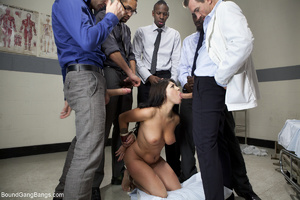 Pervert doctors fucking badly busty brun - XXX Dessert - Picture 6