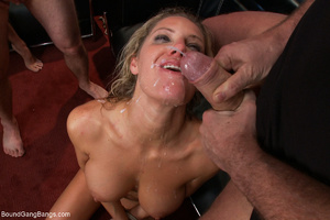Busty blonde mom mouthful of sperm after - XXX Dessert - Picture 8