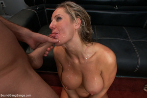 Busty blonde mom mouthful of sperm after - XXX Dessert - Picture 9