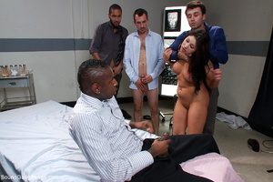 Pervert doctors fucking badly busty brun - XXX Dessert - Picture 8