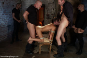 gag-balled chick roped the
