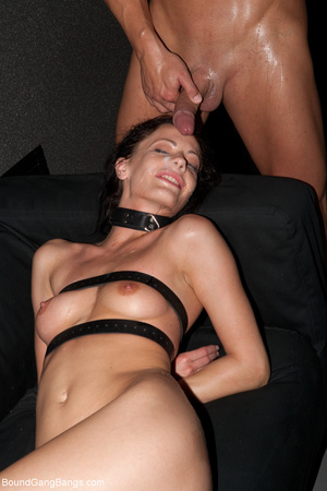 Ponytailed chick bound with belts group  - XXX Dessert - Picture 8
