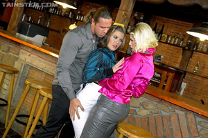 Drunk girls invite bar man to a party di - XXX Dessert - Picture 3