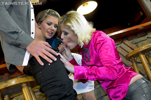 Drunk girls invite bar man to a party di - XXX Dessert - Picture 4