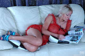 Naughty blonds with sexy full boobs get  - XXX Dessert - Picture 1