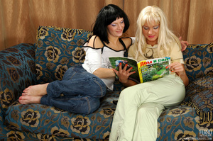 Blond and black hair girl give each othe - XXX Dessert - Picture 20