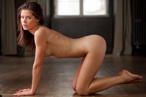 Petite brunette tease with sexy boobs an - XXX Dessert - Picture 16