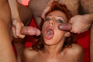 One woman's mouth, ass and pussy holes f - XXX Dessert - Picture 13