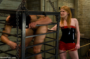 Horny blonde dress up in red and black e - XXX Dessert - Picture 2