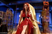 fierce fatale redhead lady