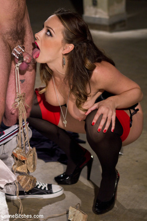 Sexy fierce female enjoying bdsm fuck ac - Picture 13