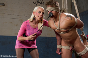 Pink dress blond female loved playing ha - XXX Dessert - Picture 3