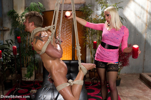 Pink dress blond female loved playing ha - XXX Dessert - Picture 4