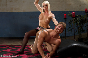 Pink dress blond female loved playing ha - XXX Dessert - Picture 7
