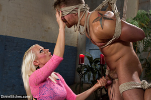 Pink dress blond female loved playing ha - XXX Dessert - Picture 15