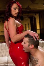 sexy lady red dress