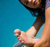 Baby-smooth toes in innocent eyes