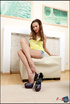 petite seductress teasing with
