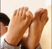 Cute and innocent temptress allures with her hot virgin toes