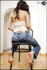 alluring tall beauty teases