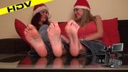 two slutty beauties santa