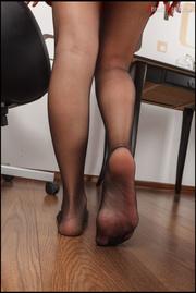lovely brunette displays her