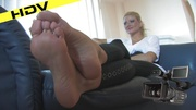 sexy hot blonde rubbing