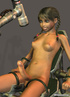 Teen nude 3D shemale enjoys sexmachine