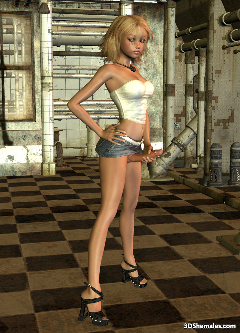 Babe Porn 3D blond 3d shemale babe wearing - cartoon porn pictures