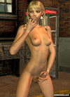 Seductive stark-naked 3D shemale smoking